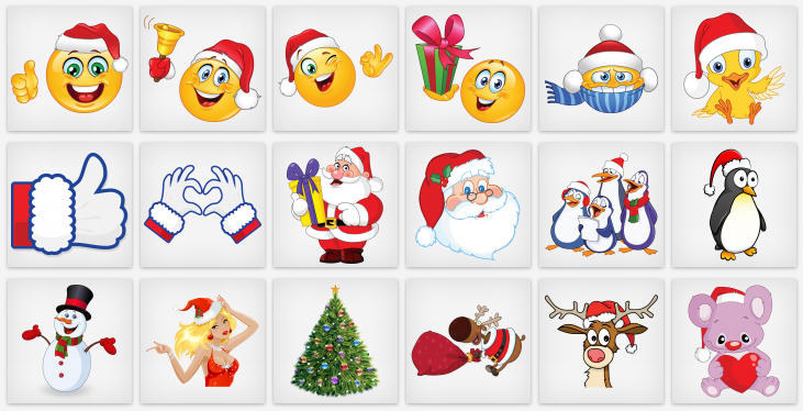 Christmas Emoticons for Facebook