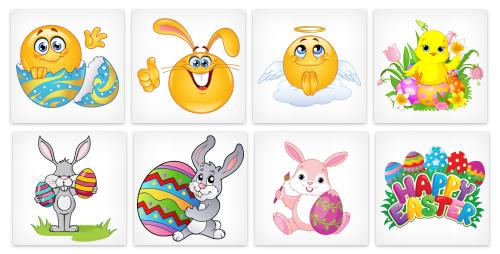 Easter Emoticons for Facebook