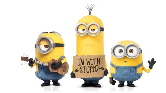 minions - i'm with stupid