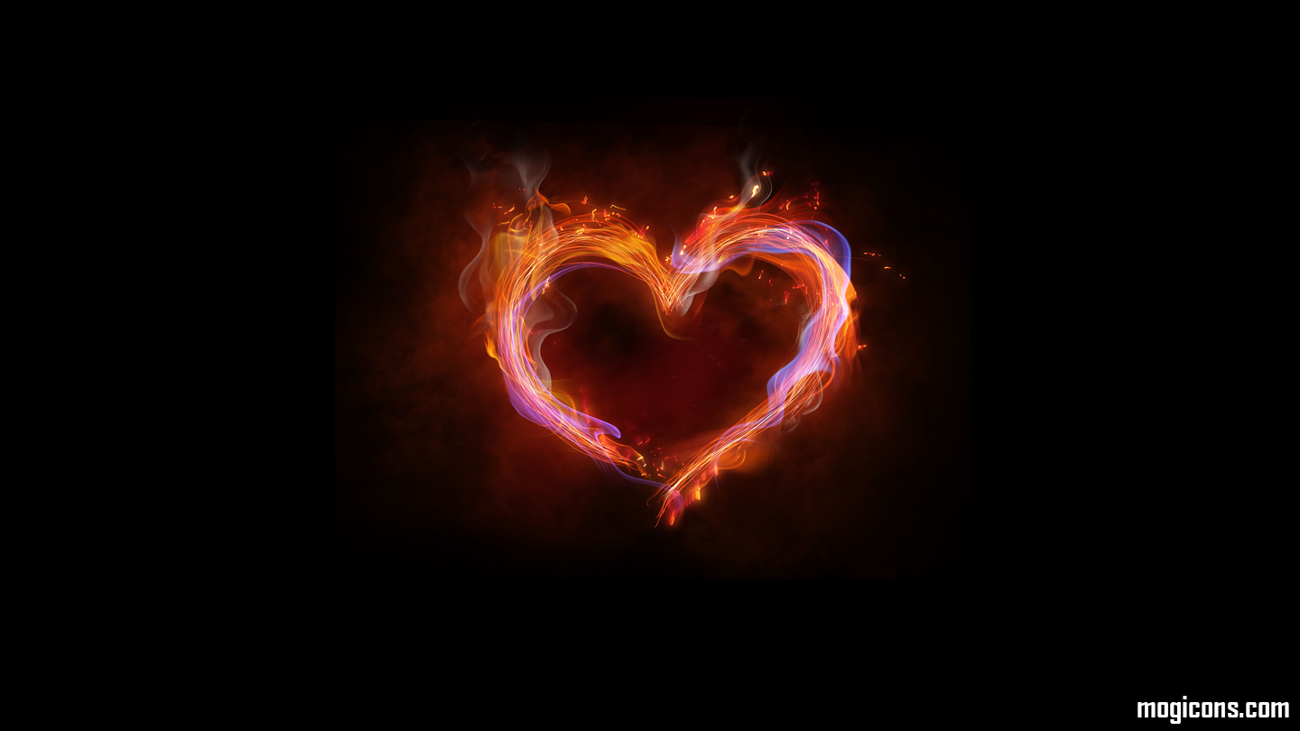 Quotes About Love Flaming Heart