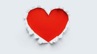 beautiful paper heart