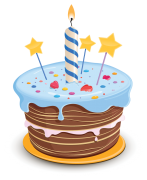 birthday cake sticker