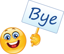 emoticon with sign - bye sticker