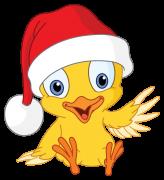 christmas chick sticker