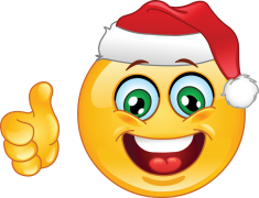 Christmas emoticon with thumb up sticker