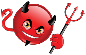 devil emoticon sticker
