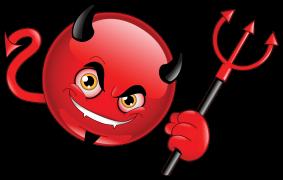 devil emoticon sticker