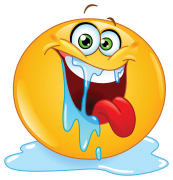 drooling emoticon sticker
