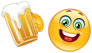 emoticon drinking beer sticker