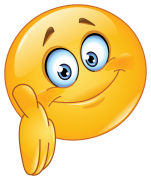 emoticon giving a hand sticker