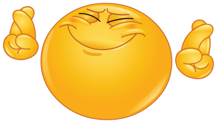 emoticon hoping hard sticker