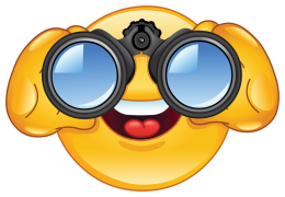 emoticon looking through binoculars sticker