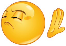 emoticon making deny sign sticker
