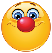 emoticon with clown nose sticker