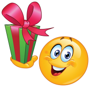 emoticon with gift sticker
