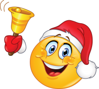 emoticon with santa hat sticker