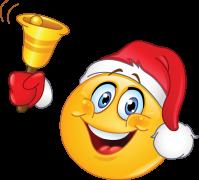 emoticon with santa hat sticker
