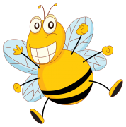 funny bee sticker
