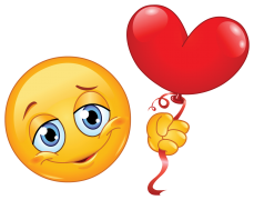 emoticon holding a balloon sticker