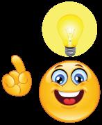 emoticon having an idea sticker