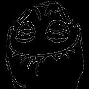 grinning sticker