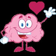 happy brain waving sticker