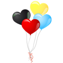 heart balloons sticker