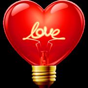 heart bulb sticker