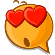 heart eyes emoticon sticker