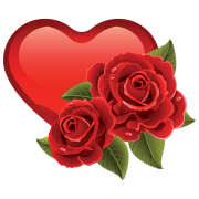 heart with roses sticker