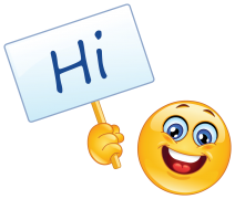 emoticon with sign - hi sticker