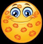 kisses sticker