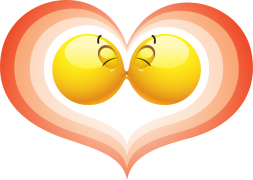 kissing smileys sticker