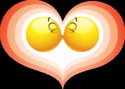 kissing smileys sticker