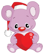 koala with santa's hat sticker