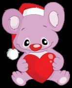 koala with santa's hat sticker
