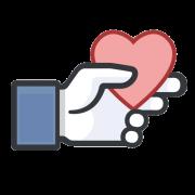 like with heart sticker