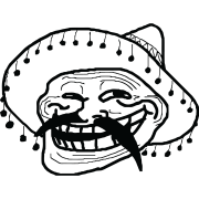 mexican troll face sticker