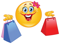 shopping emoticon sticker