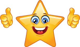 star smiley sticker