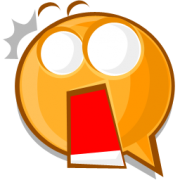startled emoticon sticker