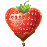 strawberry heart sticker
