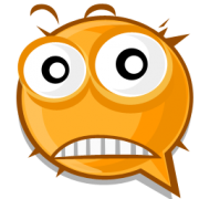 surprised emoticon sticker