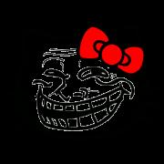 troll face kitty sticker
