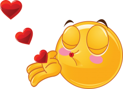 valentine smiley sending kisses sticker