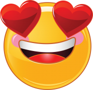 valentine smiley with heart eyes sticker