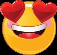 valentine smiley with heart eyes sticker