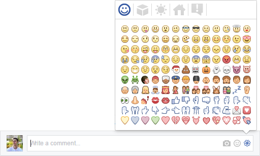 Chrome extension with emojis for Facebook