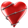 barbed wire heart sticker