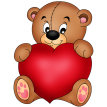brown teddy sticker